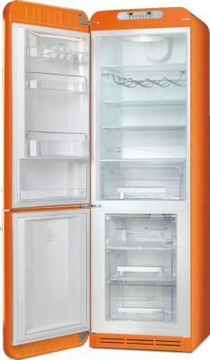 Холодильник с морозильником Smeg FAB32LON1 - с открытой дверью