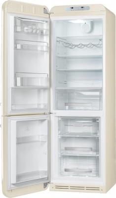 Холодильник с морозильником Smeg FAB32LPN1 - с открытой дверью
