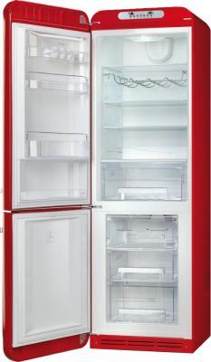 Холодильник с морозильником Smeg FAB32LRN1 - с открытой дверью