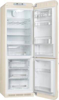 Холодильник с морозильником Smeg FAB32RP1 - с открытой дверью