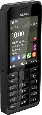 Мобильный телефон Nokia 301 Dual (Black) - вполоборота