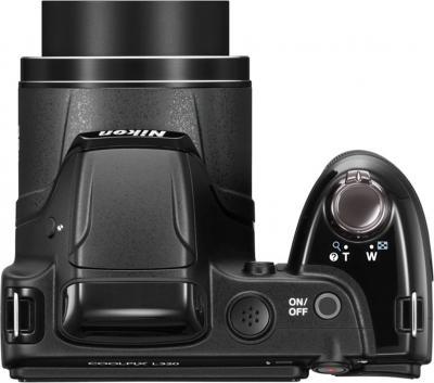 Компактный фотоаппарат Nikon Coolpix L320 (Black) - вид сверху