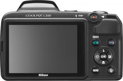 Компактный фотоаппарат Nikon Coolpix L320 (Black) - дисплей