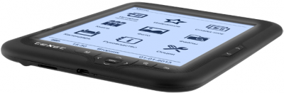 Электронная книга TeXet TB-416FL (Black) - общий вид