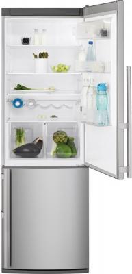 Холодильник с морозильником Electrolux EN3600AOX - с открытой дверью
