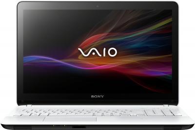 Ноутбук Sony Vaio SVF1521J1RW - фронтальный вид