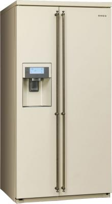 Холодильник с морозильником Smeg SBS8003PO - общий вид