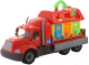 Детская игрушка Полесье Автомобиль бортовой Майк с домиком для зверей / 55552 (в сеточке) -
