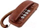 Проводной телефон TeXet ТХ-226 (коричневый мрамор) -