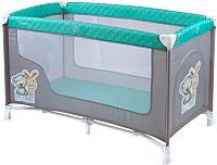 Кровать-манеж Lorelli Nanny 1 Grrey Green Best Friends (10080181704) -
