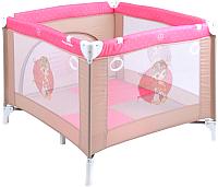 Игровой манеж Lorelli Play Station Beige Rose Princess (10080401703) -