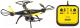 Радиоуправляемая игрушка Silverlit Квадрокоптер Spy Racer / 84796 -
