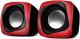 Мультимедиа акустика Sven 140 (черный/красный) -