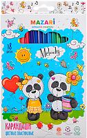 Набор карандашей Mazari Melody М-6119-18 -