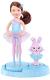 Кукла с аксессуарами Mattel Barbie Челси Балерина с домашними питомцами в голубом / X8816 -