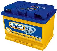 Автомобильный аккумулятор AKOM 6СТ-62 Евро+EFB (62 А/ч) -
