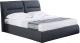 Двуспальная кровать Atreve Alice (светло-серый) -
