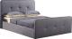 Двуспальная кровать Atreve Emily 2 (серый) -