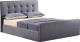 Двуспальная кровать Atreve Molly 2 (серый) -