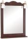 Зеркало для ванной Аква Родос Классик 65 (орех итальянский, с подсветкой) -