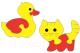 Развивающая игрушка Флексика Уточка и котенок / 45561 -
