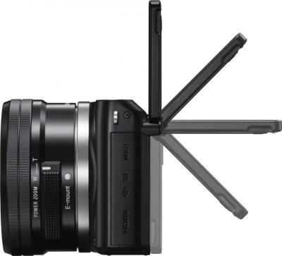 Беззеркальный фотоаппарат Sony NEX-3NL (Black) - поворот дисплея, вид сбоку