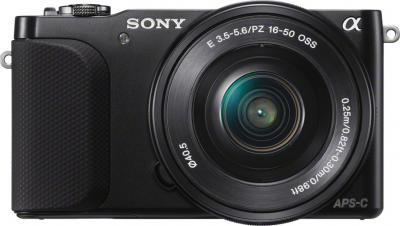 Беззеркальный фотоаппарат Sony NEX-3NL (Black) - фронтальный вид