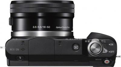 Беззеркальный фотоаппарат Sony NEX-3NL (Black) - вид сверху