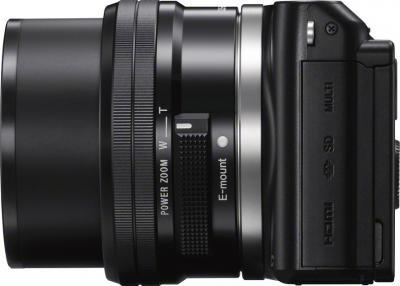 Беззеркальный фотоаппарат Sony NEX-3NL (Black) - вид сбоку