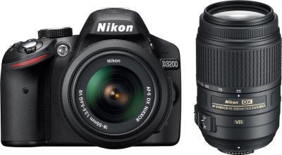 Зеркальный фотоаппарат Nikon D3200 (Kit 18-55mm VR + 55-300mm VR) - общий вид