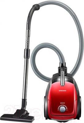 Пылесос Samsung VC20DVNDCRD/EV (красный) - общий вид