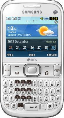 Мобильный телефон Samsung S3332 Ch@t 333 (White GT-S3332CWASER) - общий вид