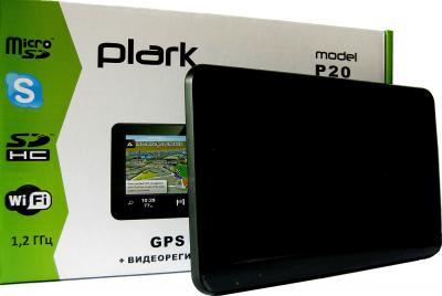 GPS навигатор Plark P20 - общий вид с коробкой