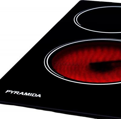 Электрическая варочная панель Pyramida CFEA 640/0 - большая конфорка и логотип