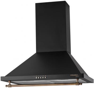 Вытяжка купольная Pyramida KH 60 Rustico (черный) - общий вид