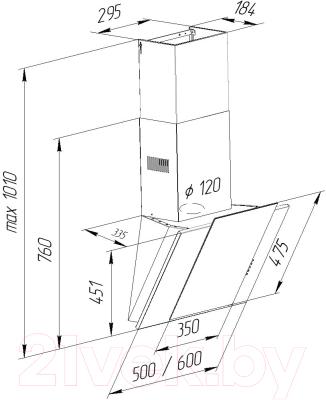 Вытяжка декоративная Pyramida KR 60 (черный)