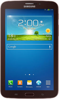 Планшет Samsung Galaxy Tab 3 7.0 8GB 3G (Gold-Brown SM-T211) - фронтальный вид