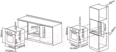 Электрический духовой шкаф Pyramida F 60 TMR (черный)