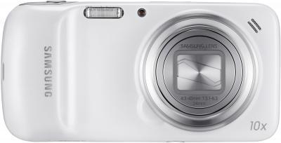 Смартфон Samsung C1010 Galaxy S4 zoom (White) - вид сзади