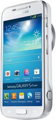 Смартфон Samsung C1010 Galaxy S4 zoom (White) - полубоком