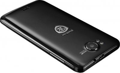Смартфон Prestigio MultiPhone 5300 Duo (черный) - задняя панель