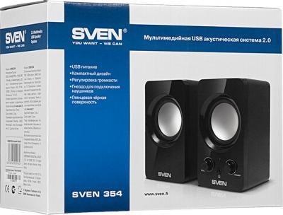 Мультимедиа акустика Sven 354 (черный) - коробка