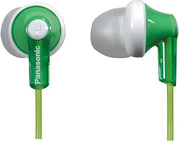 Наушники Panasonic RP-HJE118GUG (зеленый) - общий вид