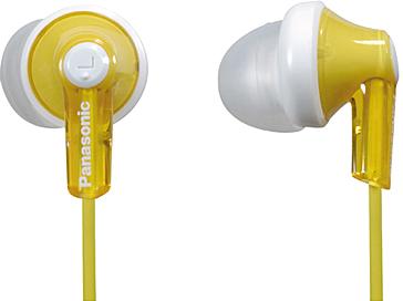 Наушники Panasonic RP-HJE118GUY (Yellow) - общий вид