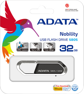 Usb flash накопитель A-data Sport S805 32GB (AS805-32G-RGY) (Gray) - коробка