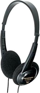 Наушники Panasonic RP-HT6E-K (черный) - общий вид