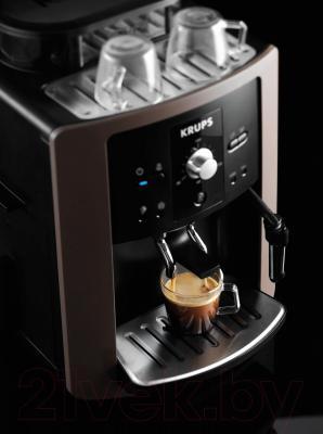 Кофеварка эспрессо Krups EA801910 - в работе