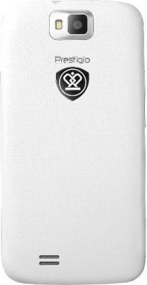 Смартфон Prestigio MultiPhone 4055 DUO (белый) - задняя панель