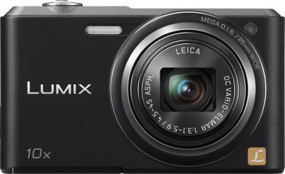 Компактный фотоаппарат Panasonic Lumix DMC-SZ3EE-K (Black) - фронтальный вид