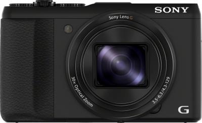 Компактный фотоаппарат Sony Cyber-shot DSC-HX50 (черный) - фронтальный вид